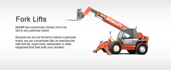 Cranes, Forlifts, Aerial Platforms on Hire, Lease or